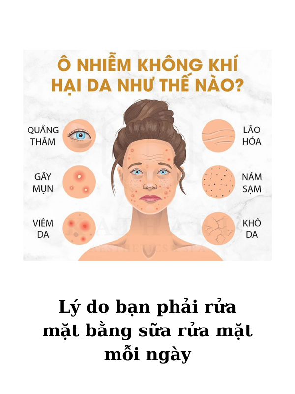 Hàng ngày da phải tiếp xúc với khói bụi nên rất cần thiết được làm sạch bằng sữa rửa mặt.