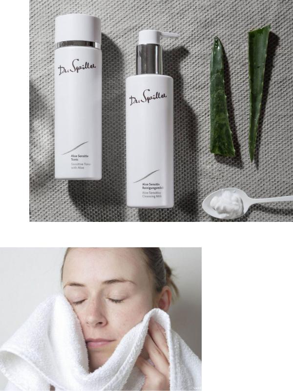 Dr Spiller Aloe Sensitive Cleansing Milk chứa những thành phần làm sạch nhưng vẫn giữ ẩm tuyệt vời cho da khô.