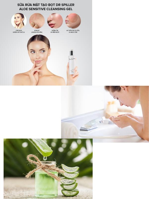 Có thể dùng Dr Spiller Aloe Sensitive Cleansing Gel ở dạng gel hoặc làm loãng ra để dùng đều được.