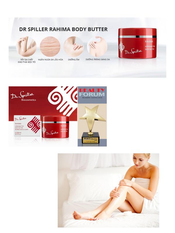 Dr Spiller Rahima Body Butter nhận phần thưởng Beauty Forum Readers' Choice.