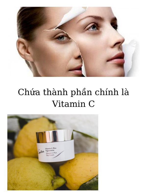 """Dr Spiller Vitamin C-Plus Day Cream chứa thành phần chính là viatmin C - """"thần dược"""" cho làn da sạm nám."""