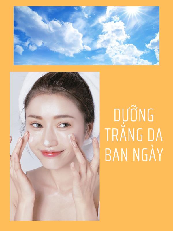 Kem dưỡng trắng da ban ngày sẽ bổ sung nhiều dưỡng chất bảo vệ da khỏi tác hại của môi trường xung quanh.
