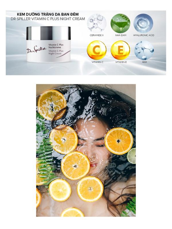 Các thành phần ưu việt có trongDr.Spiller Vitamin C-Plus Night Cream.