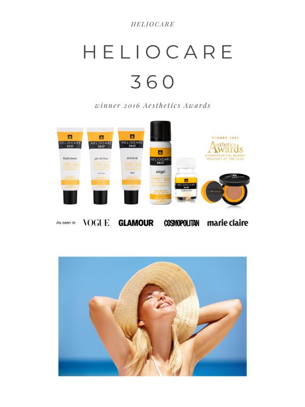 Heliocare 360 luôn nằm trong danh sách giải thưởng sản phẩm của năm.