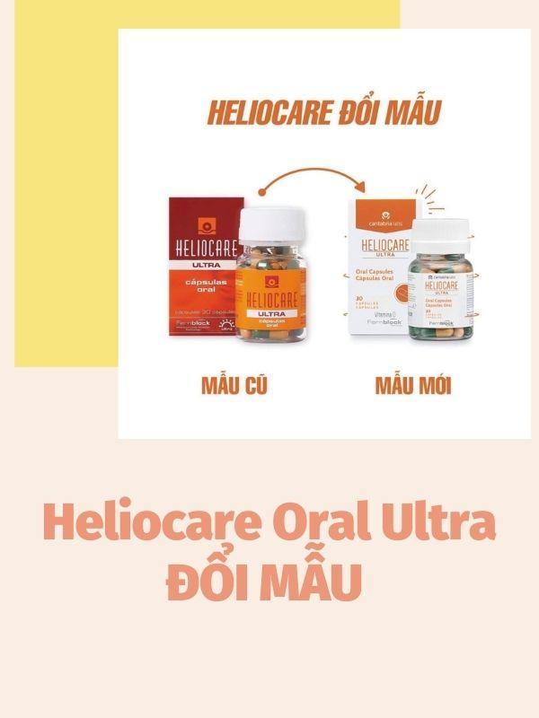 Heliocare Oral Ultra đổi mẫu mới