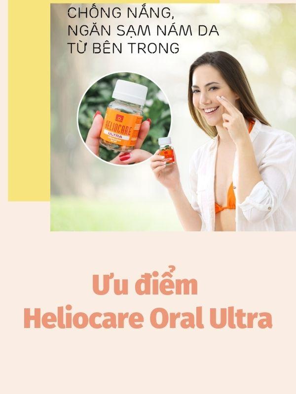 Heliocare Oral Ultra chống nắng bảo vệ da hoàn hảo từ bên trong