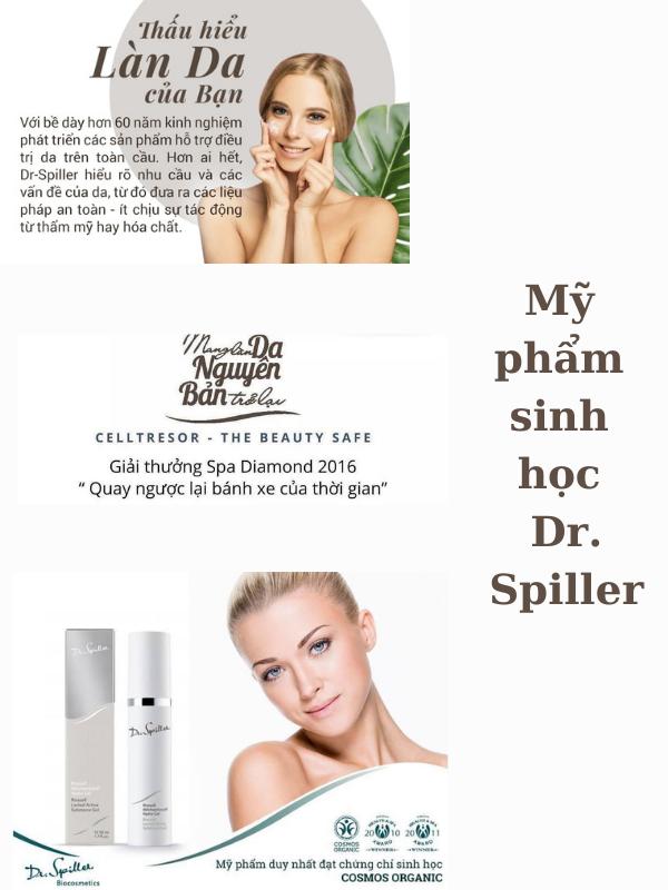 Dr Spiller là thương hiệu đầu tiên được chứng nhận mỹ phẩm sinh học.