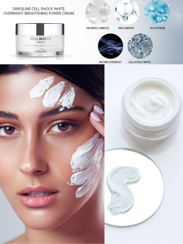 Swissline Overnight Brightening Power Cream ứng dụng công nghệ làm trắng da đột phá