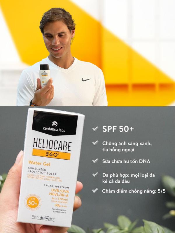 Heliocare 360 Water Gel sở hữu nhiều ưu điểm vượt trội so với chống nắng truyền thống