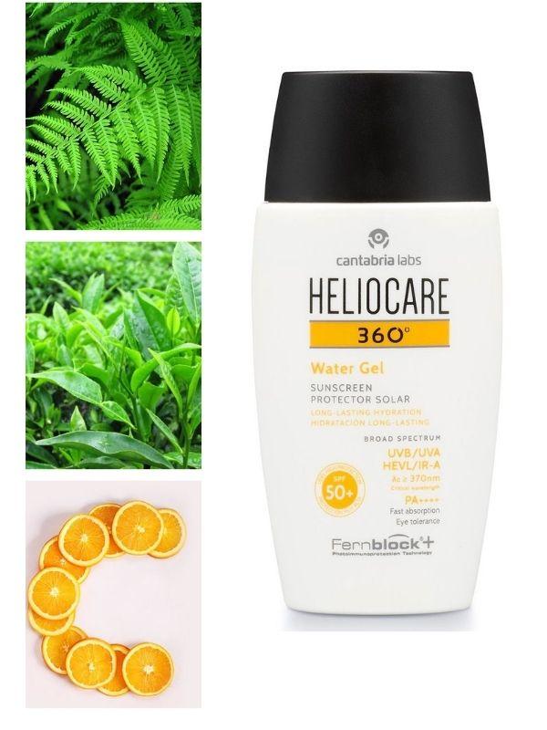 Heliocare 360 Water Gel SPF 50 với nhiều thành phần bảo vệ da tối ưu