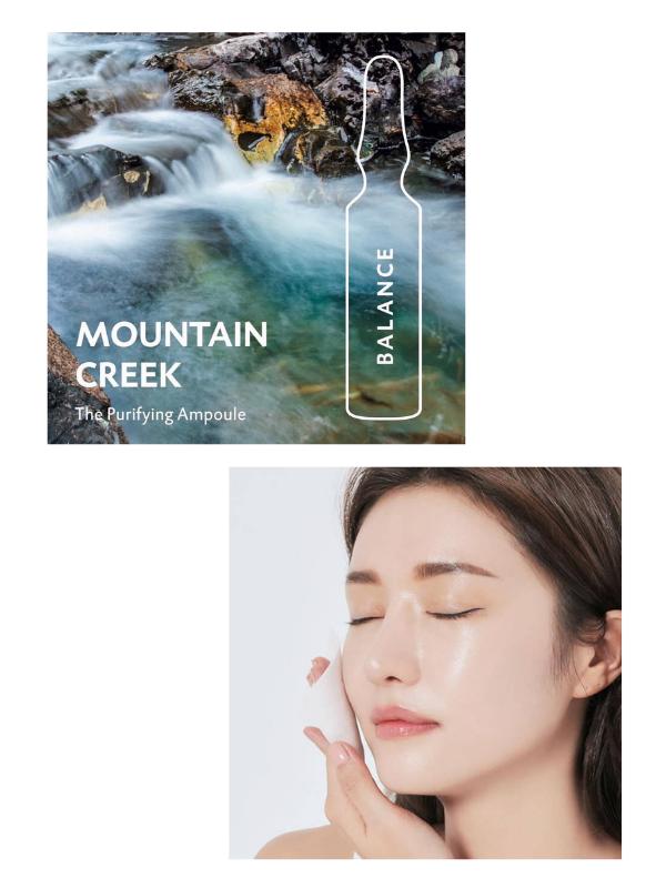 """""""Tinh khiết tựa làn suối trên đỉnh núi Alps"""" Dr Spiller Mountain Creek Balance Purifying Ampoule."""