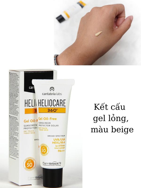 Kết cấu gel lỏng, màu beige thấm nhanh rất phù hợp cho da dầu mụn.