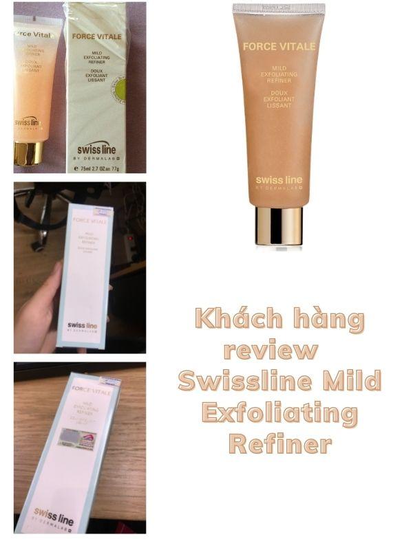 Khách hàng đánh giá, review Swissline Mild Exfoliating Refiner sau khi sử dụng