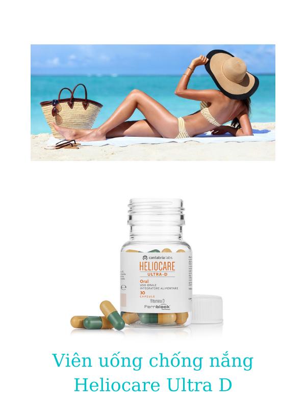 Viên uống chống nắng Heliocare Ultra D bổ sung thêm nhiều vitamin D, E, C